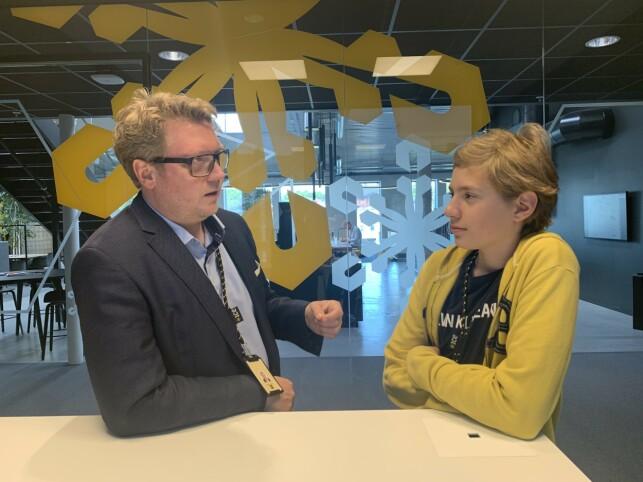 Head of Services i ice, Henrik Lexow (40), synes det er viktig å gi tilbud til unge kodere. 📸: Privat