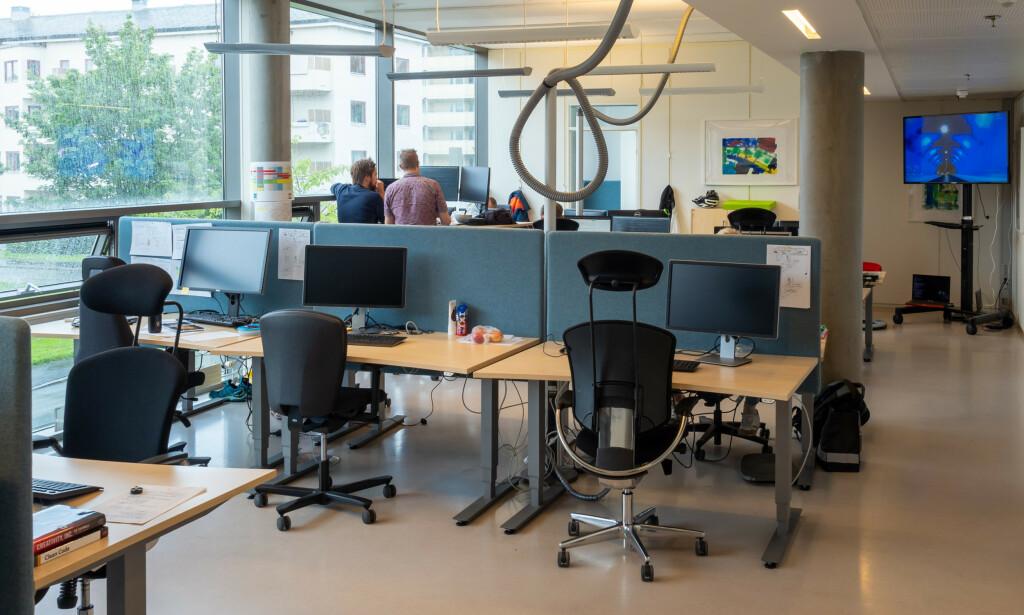 Kontorområdet der Mikkel og kollegaene sitter. 📸: Privat