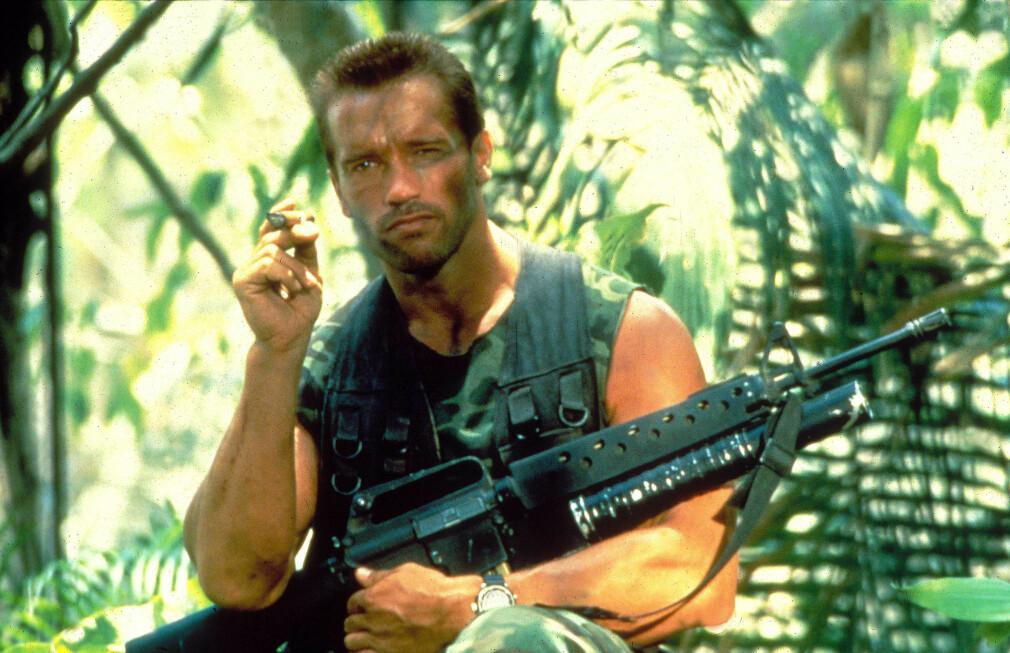 Arnold Schwarzenegger i filmen Predator. 📸: Moviestore/rex / Scanpix