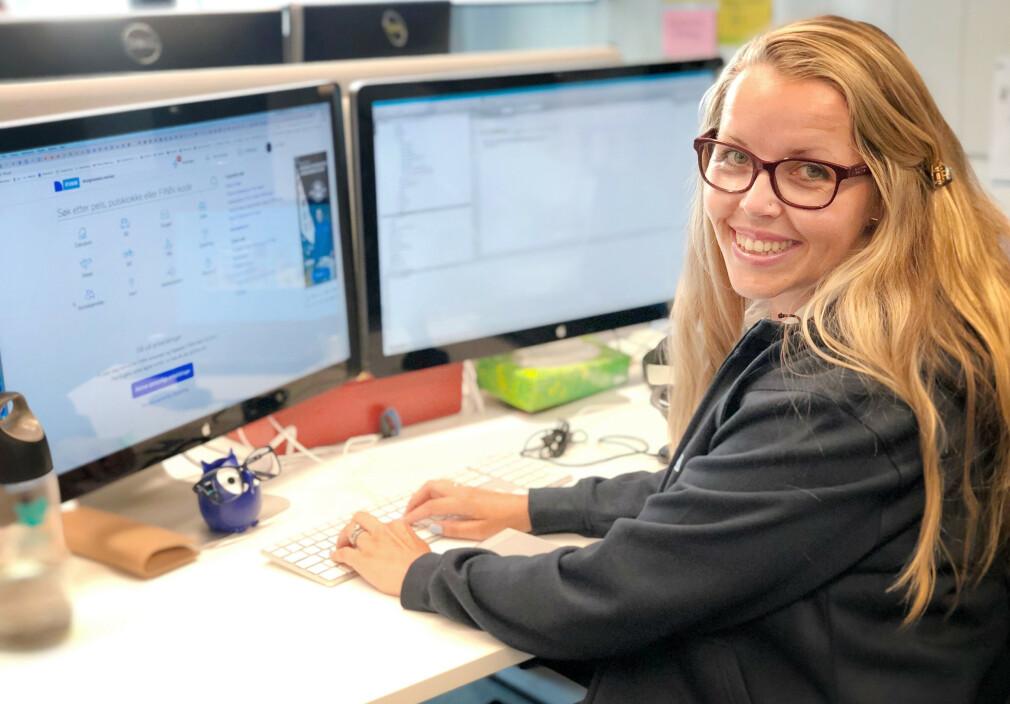 Ukas Koder Lotte Johansen er seniorutvikler i FINN, og jobber nå med Mine Meldinger. 📸: Mette Lafton