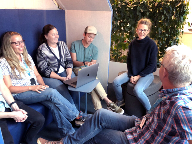 Teamet til Lotte Johansen i FINN. 📸: Kjell Ivar Storstein