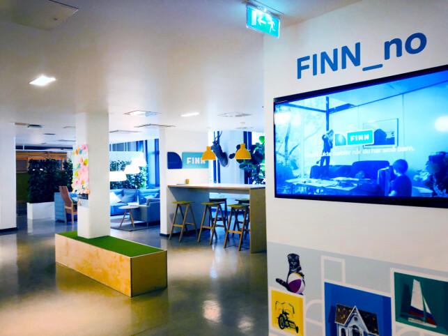 Resepsjonslokalene i FINN. 📸: Lotte Johansen
