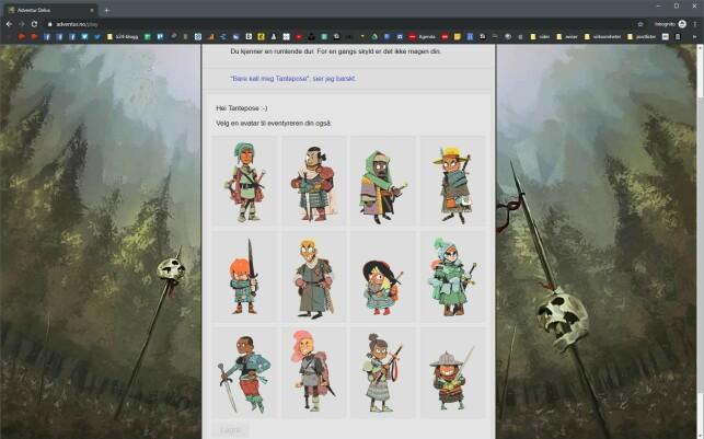 Adventur Delux har mange rollespillelementer i seg, som å lage en karakter. Du kan også logge deg inn for å fortsette med samme karakter der du slapp.