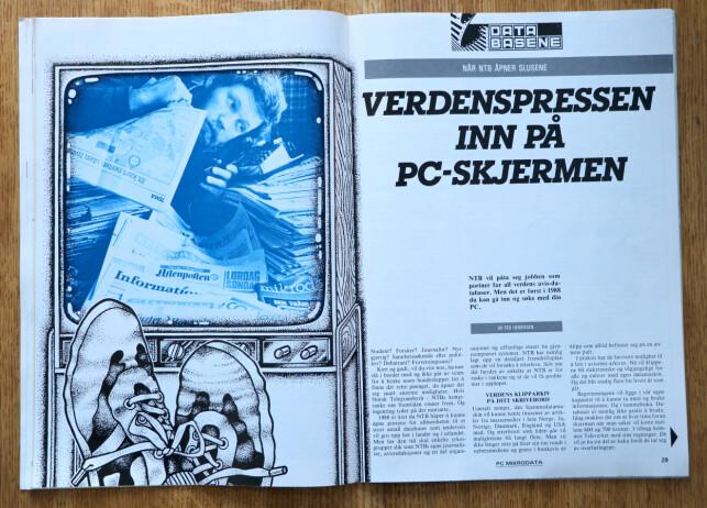 NTB skulle åpne det de kalte Pressens Nyhetsbank. En slags nettavis, altså. 📸: Ole Petter Baugerød Stokke / Mikrodata PC