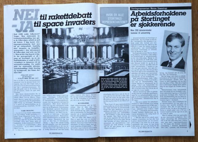 Det kom ikke datamaskiner inn på Stortinget før i 1984. Det syntes mange var på høy tid. 📸: Ole Petter Baugerød Stokke / Mikrodata PC