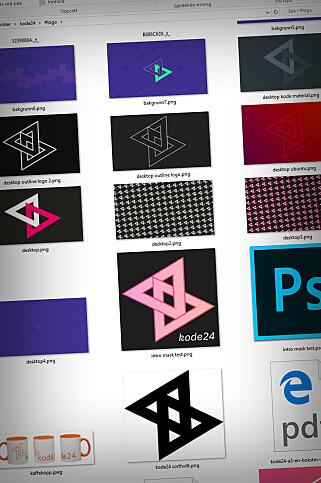 Logoen til kode24 har vært gjennom noen prosesser, for å si det forsiktig. 📸: Ole Petter Baugerød Stokke