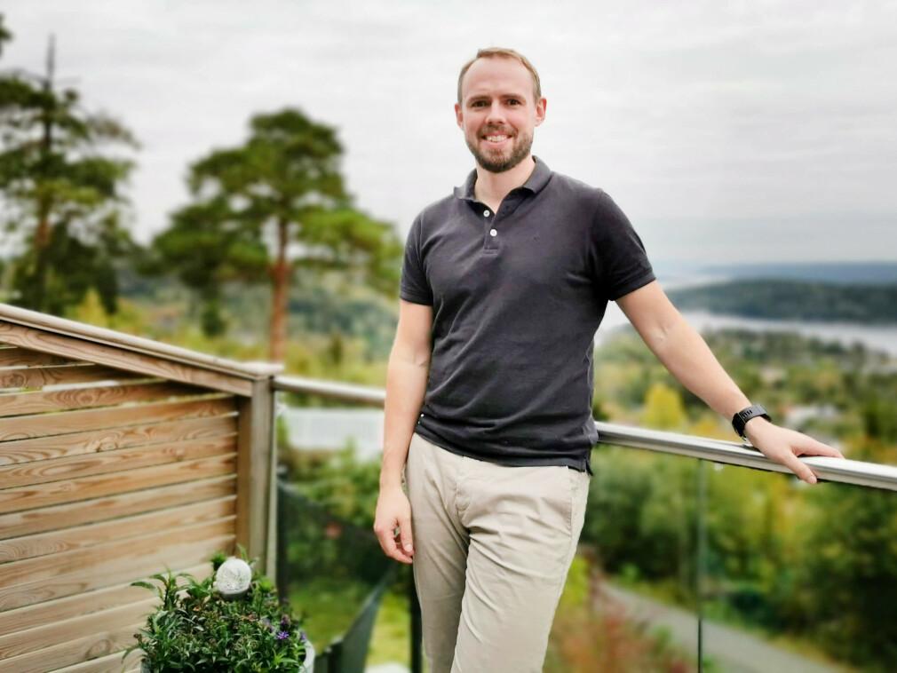 Kristoffer Høegh Mysen er seniorkonsulent i Scelto, og bor her i Sætre i Hurum, utenfor Drammen. 📸: Privat