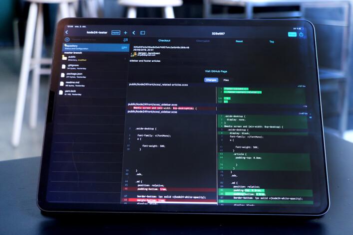 Working Copy er appen for deg som vil bruke Git fra iPaden din. 📸: Ole Petter Baugerød Stokke
