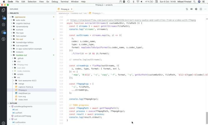 Slik ser det ut når Mikael jobber på sin utviklermaskin. 📸: Privat