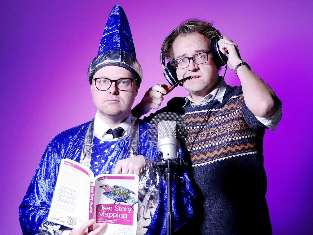 kode24-timen med Jørgen og Ole Petter er kode24s flaggskip-podcast, intet mindre. Hver uke skal vi lage et show av og for norske utviklere, og vi tar blant annet inn andre norske utviklere gjennom spalta Innboksen. I første episode ba vi om kodevitser. 📸: Ole Petter Baugerød Stokke
