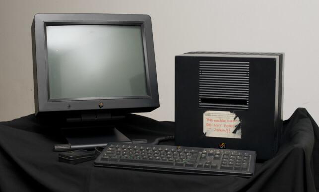 Webben ble egentlig skapt for å brukes på denne maskinen. Tim Berners-Lee sin Next-maskin. 📸: Scanpix / Geoff Pugh/rex