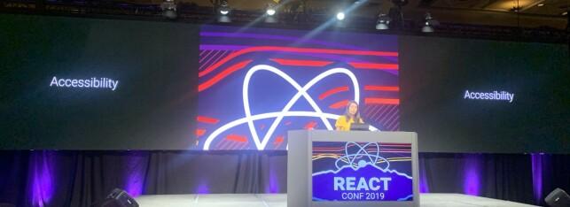 Den nye teamsjefen til React og Relay-teamet — Yuzhi Zheng. 📸: Kristofer Giltvedt Selbekk