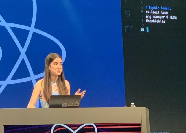 Sophie Alpert rocket live-kodingen! 📸: Kristofer Giltvedt Selbekk