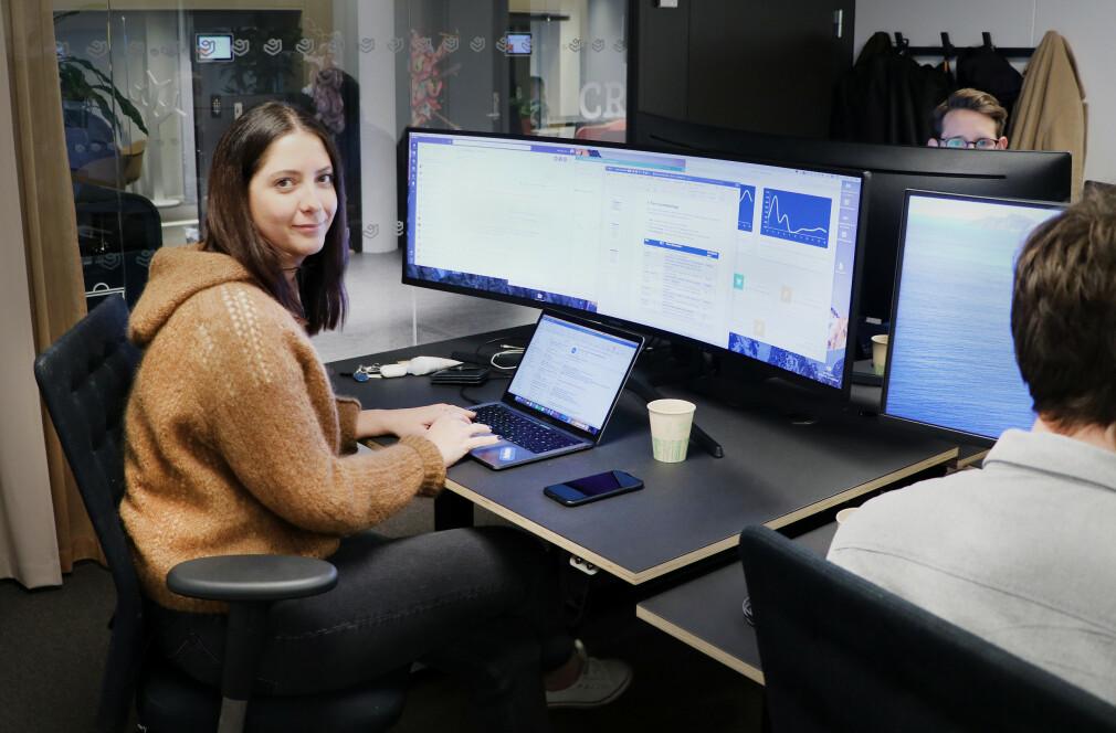 Produkteier Marthe Cairns er en flere som jobber med oppussing av Coop sin app om dagen. 📸: Jørgen Jacobsen