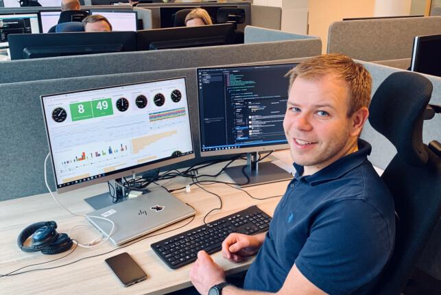 Arkitekt John-Arne Fagerli i Sbanken gleder seg til å rulle ut deres nye mikrotjenester med Kubernetes. 📸: Privat