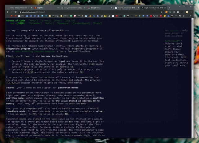 Advent of Code. 📸: Ole Petter Baugerød Stokke