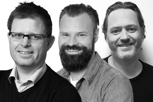 Simen Sommerfeldt, Magnus Green, Kjell Wilhelmsen og kollegene deres i Bouvet oppsummerer 2019, og spår litt om 2020. 📸: Bouvet / Ole Petter Baugerød Stokke