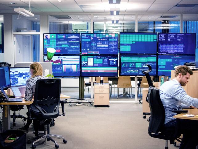 Lokalene rundt Julian Ravn Thrap-Meyer i Tripletex. Å lage de kuleste skjermene er en intern konkurranse mellom utviklerne. 📸: Privat