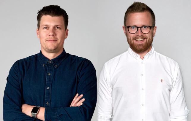 Fagsjefene Andreas Heim og Erik Wendel i Bekk forteller hva utviklerne deres tenker om året som gikk, og året som kommer. 📸: Bekk