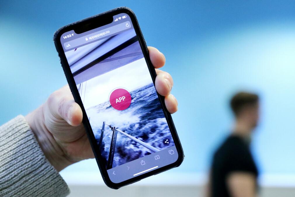 PWA-appen App! ble laget av utvikler Bjørn Jarle Kvande i romjula. 📸: Privat