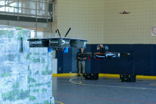 Dronene Inky og Clyde, under IARC-konkurransen i fjor, som foregikk i Atlanta. 📸: Ascend NTNU