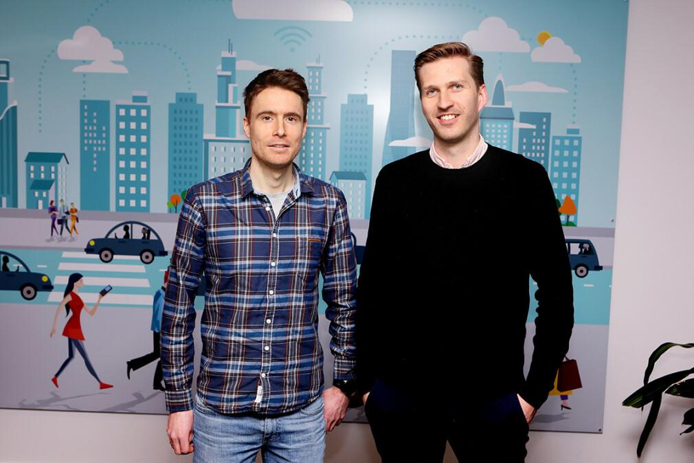 Utviklerne Pål Simen Ellingsen og Sebastian Ramsland har begge begynt å jobbe for Datek. 📸: Datek