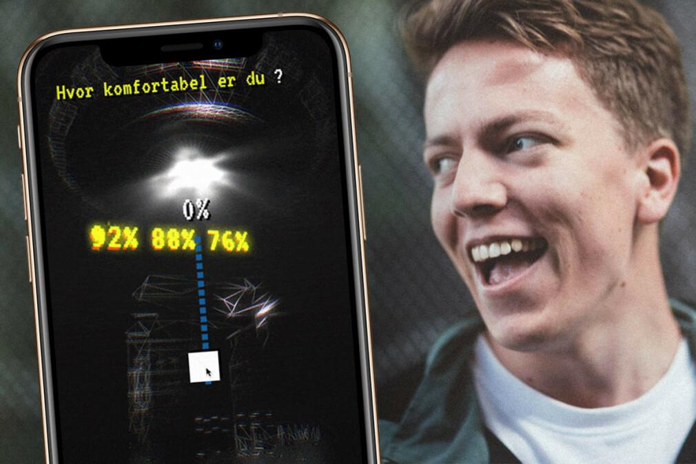 Max Melander kaller seg teknolog hos Blank, og har utviklet 3D-grafikken som åpenbarer seg utover i prosessen på sasskien.no, hvor deltakere kan forsøke å vinne billetter til intimkonserter med Karpe. 📸: Privat