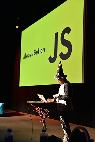 Det er JavaScript som gjelder på Web Rebels. 📸: Web Rebels