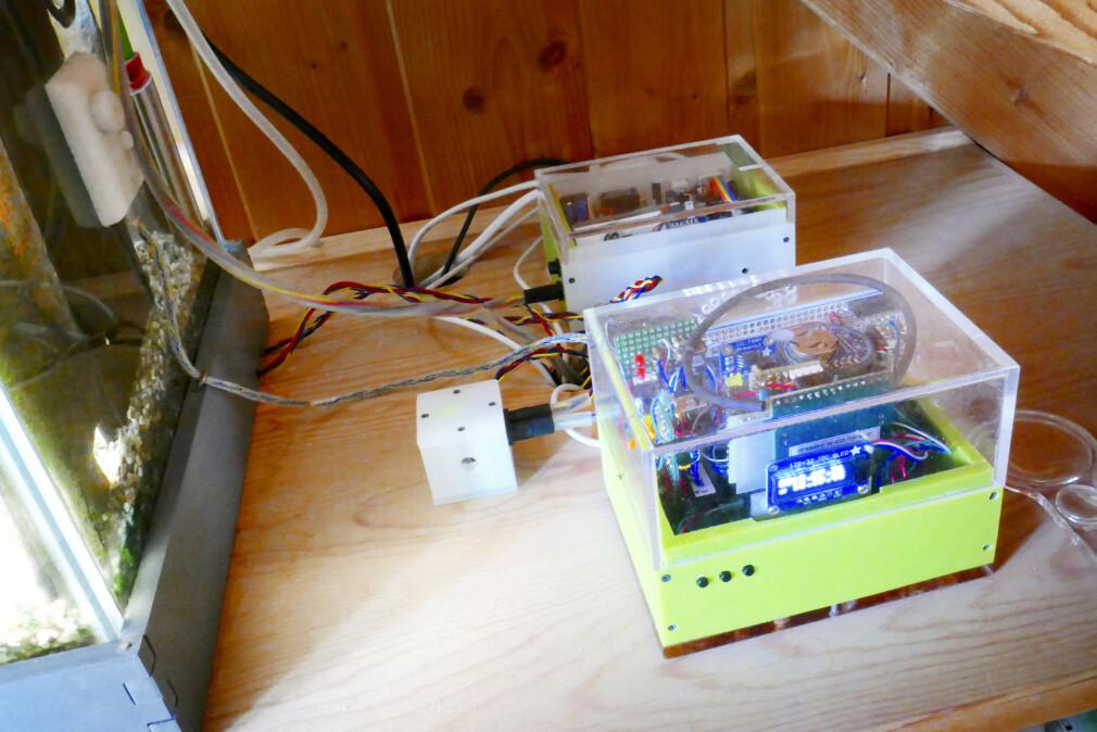 Ved å programmere XMOS-maskinvare i språket XC kan Øyvind Teig styre akvariet sitt. 📸: Øyvind Teig