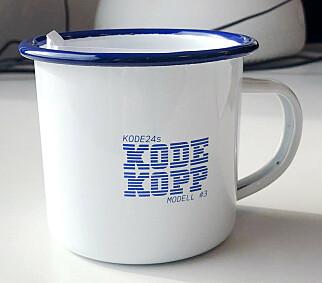Sjekk ut kode24s Kodekopp Modell #3 - årets hotteste kaffekopp! 📸: Jørgen Jacobsen