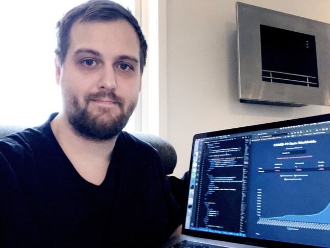 Thomas Alrek har koda grafene på corona.netflex.dev. 📸: Privat