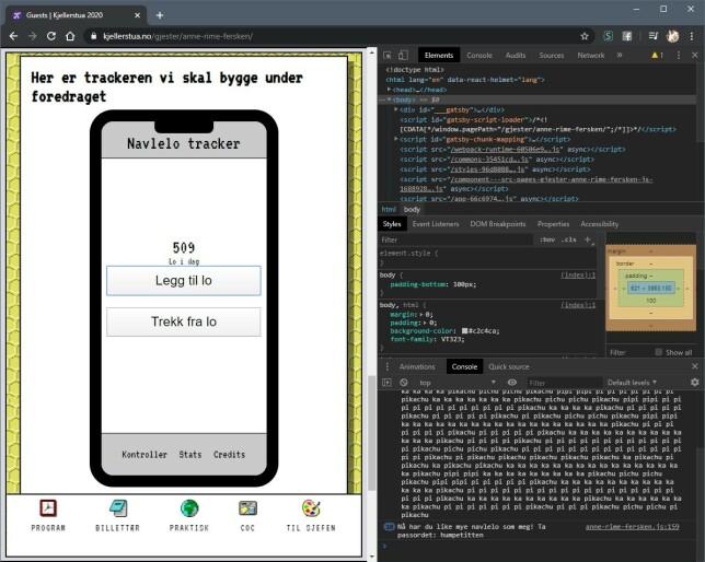 Navlelo-trackeren Grafs! spytter ut et passord om du trykker 500 ganger. I motsetning til årets MGP, takla vi alle klikka.
