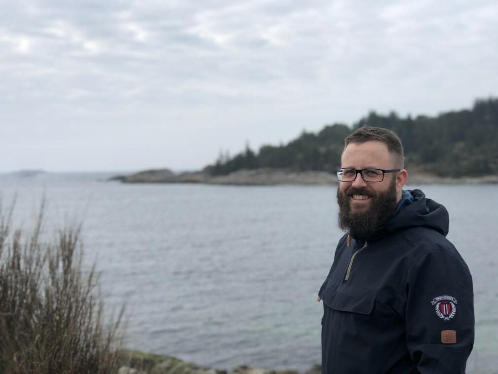 Thomas Kalve er utvikler i Bouvet Stavanger, men trives minst like godt ute i det fri. 📸: Privat
