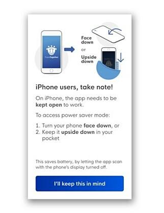 """""""I Singapore får iPhone-brukere beskjed om at de må holde appen åpen for at den skal fungere."""""""