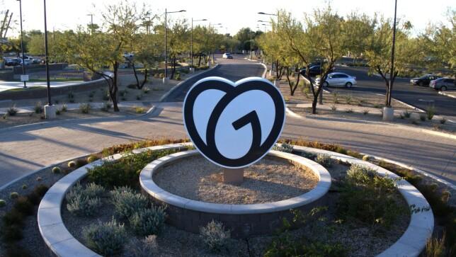 """""""Foto av utsiden av GoDaddy-kontoret i Arizona"""" forteller Jan-Erik Carlsen. 📸: GoDaddy"""