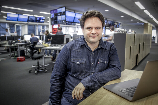 Redaksjonell utvikler Jari Bakken i VG. 📸: Espen Sjlingstad Hoen / VG