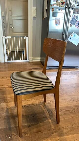 Kjøkkenstol - ikke optimalt. 📸: Kristofer Giltvedt Selbekk