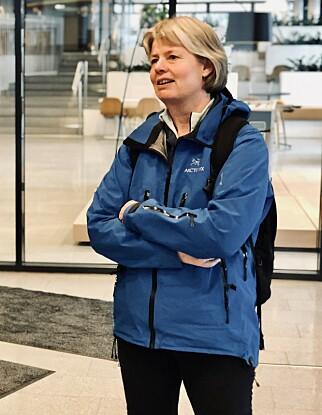 Lektor Siri Annethe Moe Jensen ved Institutt for Informatikk på Universitetet i Oslo, fra da hun var gjest i kode24-timen, rett før pandemien. 📸: Ole Petter Baugerød Stokke