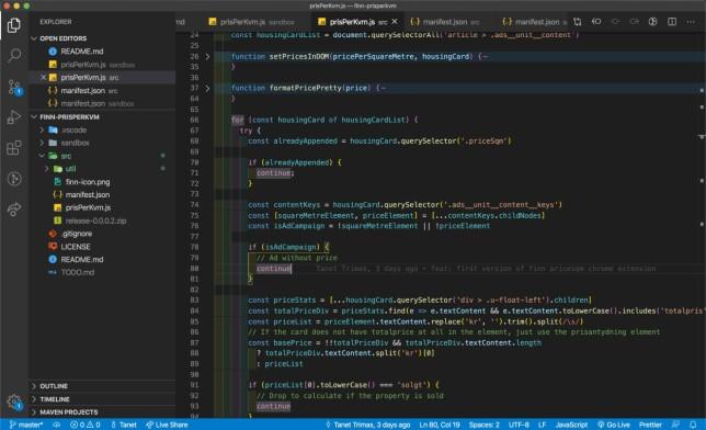 Slik ser det ut når Tanet Trimas jobber med utvidelsen. - Når man skal teste så kan man bare laste inn selve kildekodemappen ukomprimert, og oppdatere den i browseren når man gjør endringer, forteller han. 📸: Privat