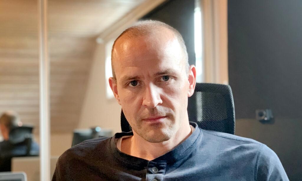Torleiv Sundre jobber med programvare på maskinvare hos Huddly, som lager løsninger for videoprat. 📸: Privat