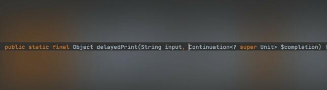 """Figur 2 - Kotlin legger til håndtering av """"continuation"""". 📸: Privat"""