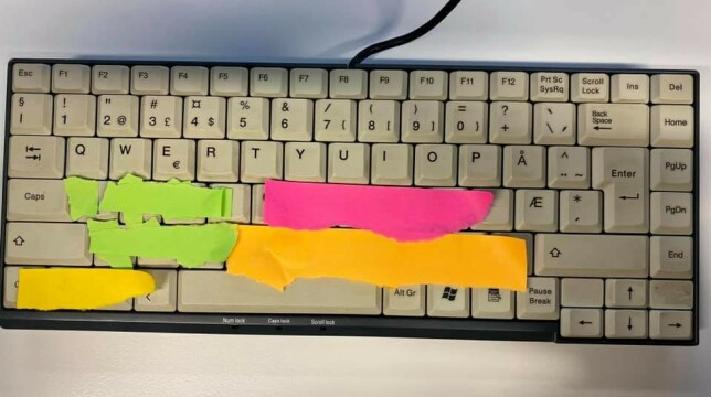 """Magnus Aabech: """"Hjemmelaget Bloomberg-tastatur."""""""