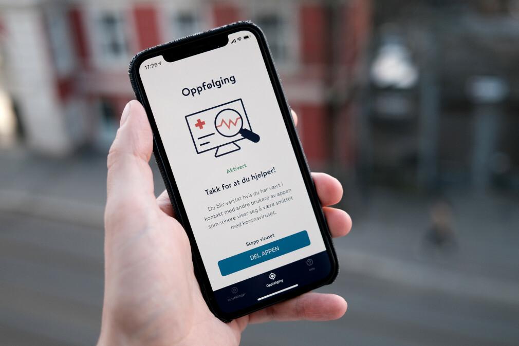 Smittestopp-appen fra FHI må nå stanse aktiviteten sin. Hva som skjer videre, er ennå ikke sikkert. 📸: Ole Petter Baugerød Stokke