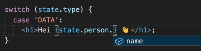 Dersom type-feltet er DATA finnes feltet person.