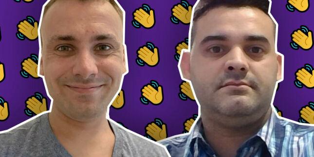 image: Johannes (26) og Daniel (36) til Geodata