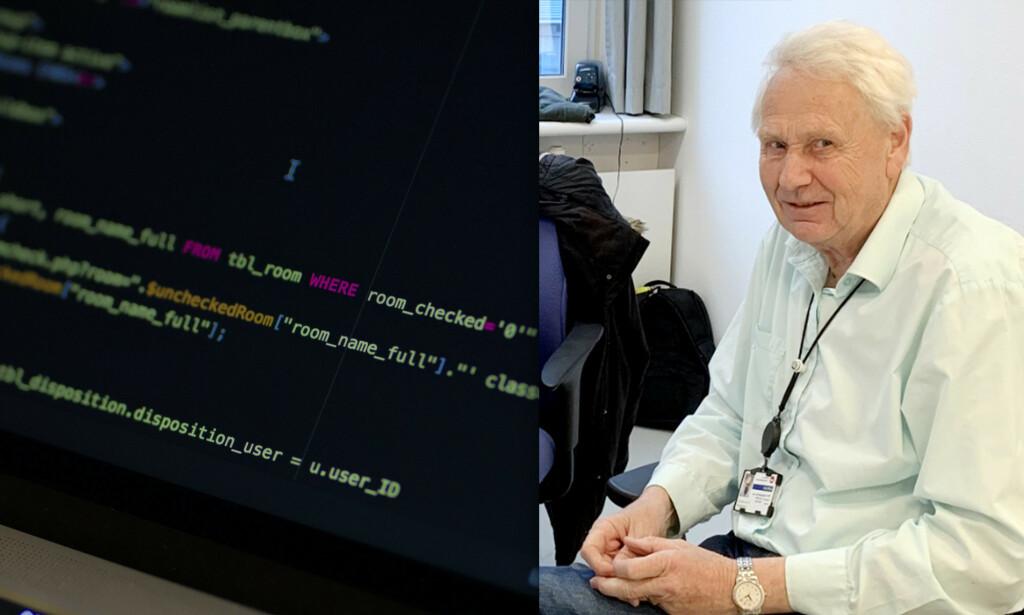 Per-Arne Rindalsholt (70) har blant annet jobba 38,5 år i Visma Consulting, før han pensjonerte seg denne våren. Nå forteller han om norsk programmeringshistorie på kode24. 📸: Visma / Caspar Camille Rubin / Unsplash / privat