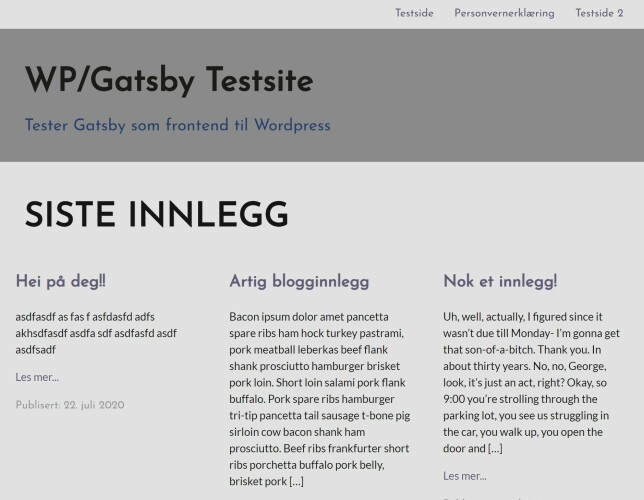 image: Bruk Wordpress som headless CMS, med Kurts Gatsby-løsning