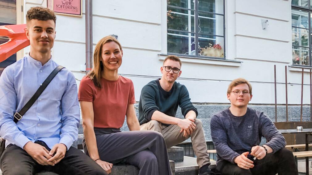 Markus Hellestveit, Cecilie Baglo, Gaute Kvalheim og Edvin Myhren starter i Epinova. 📸: Epinova