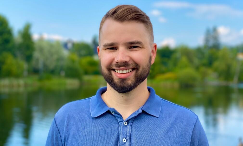 Tobias Thorstensen driver med webutvikling i .NET. 📸: Privat
