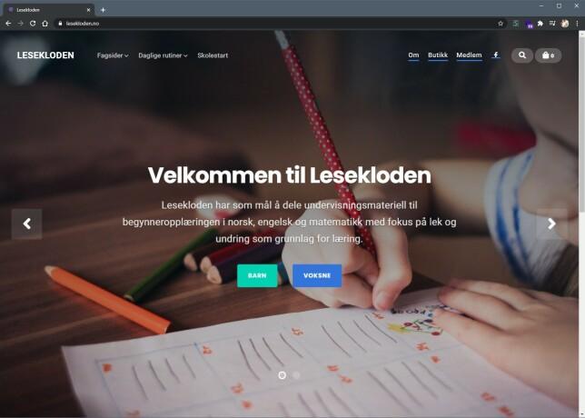 Lesekloden utvikles med CSS-rammeverket Bulma. - Det er lett å tilpasse, har en fin grafisk profil, god dokumentasjon, og forståelige klassenavn, sier Kristoffersen.